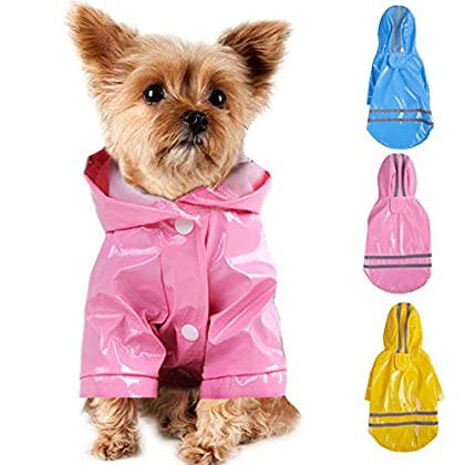 Kapuze und reflektierender Rückenstreifen sorgen dafür, dass das Haustier nachts oder bei Regen im Straßenverkehr gesehen werden kann. 100% wasserabweisendes Außenmaterial hält Ihre lieben Tiere bei jedem Wetter sicher und trocken. Verhindern Sie, da...