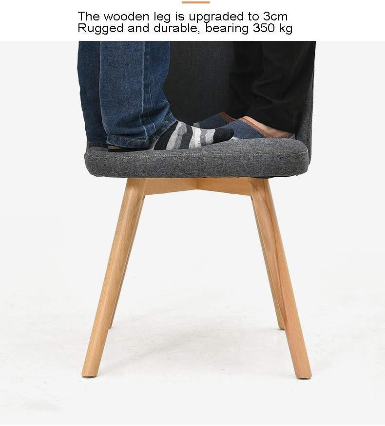 Bois massif chaise de salle à manger vert chaise de bureau éponge coussin simple maquillage chaise en bois pieds 6 5
