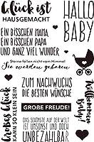 ドイツのHELLOBABYDIYスクラップブッキングフォトアルバム用透明クリアシリコンスタンプシール装飾クリアスタンプM1176