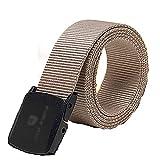Yingm Excelente Textura Cinturón de Lona de Caqui Ligero Cinturón de Hombre Cinturón de Hombre Suave y Liso Juventud Estudiante Pantalones Cinturones Cinturón de Lona Duradero