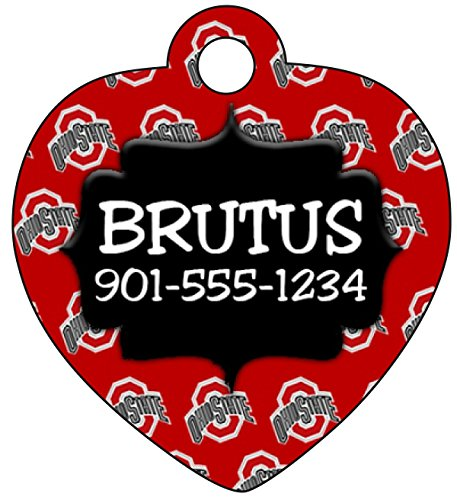 uDesignUSA Custom NCAA Pet Id Tag for Dogs and Cats (Ohio State) New Jersey