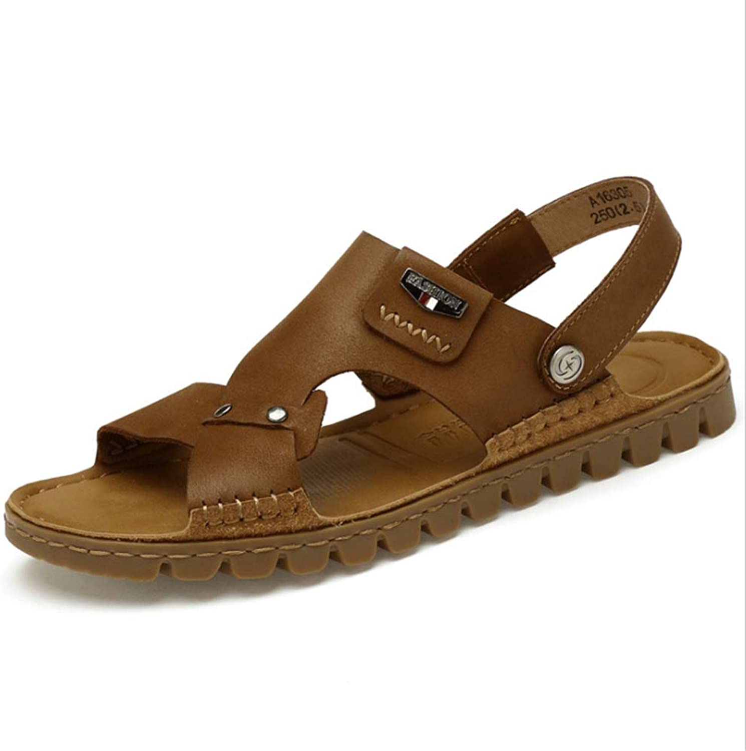 Sandal Men's Sports Leather Sandals with Anti-Skid Sandals Anti-Skid Breathable