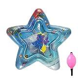 cA0boluoC Aufblasbare Wassermatte für Babys und Kleinkinder, Meerestier, Spielmatte für Neugeborene, Spielcenter für Kinder, einfarbig, A