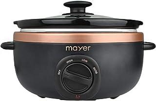 Mayer MMSC35 Electric Slow Cooker, 3.5L Black