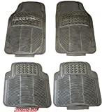 Xtremeauto® AL16 - Juego completo de alfombrillas de goma delanteras y traseras, color negro