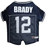 NFLPA Dog Jersey - Tom Brady #12 Pet Jersey - NFL New England Patriots Mesh Jersey, Small