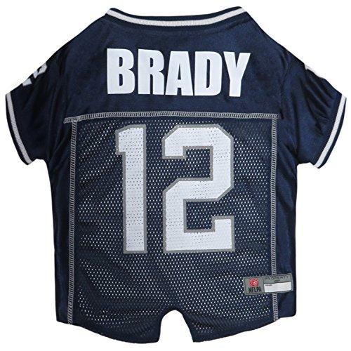 NFLPA Dog Jersey – Tom Brady #12 Pet Jersey – NFL New England Patriots Mesh Jersey, Large