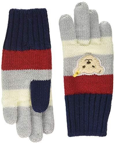 Steiff Jungen Handschuhe, Grau (PATRIOT BLUE 6033), 3 (Herstellergröße:3)