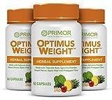 Optimus Weight - Tejocote Root Premium - Herbal Supplement - Natural and Healthy Weight Loss, Fat Burner, Detox, Appetite Suppressant Supplements - (Raiz de Tejocote) - 180 Capsules - 3-Pack