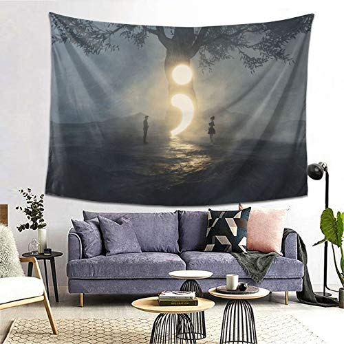 Semicolon Cont;Nue Tapestry Art Tapestry Handicraft Party Decoration Banner Garland Event Banner and Home Decoration