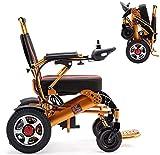Hammer Plegable motorizado Energía Eléctrica silla de ruedas Vespa, viaje seguro de los aviones, de aluminio durable Seguro y Fácil de doblez de la impulsión y viajes de ancianos minusválidos Ayuda de