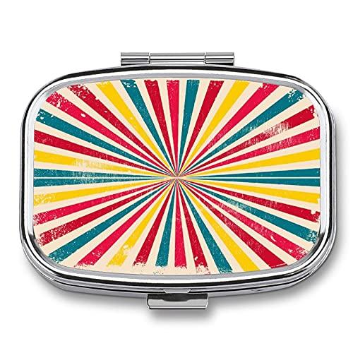 Pastillero Rayas De Colores Divergentes Organizador De Pastillas Diario Dispensador Píldoras Para Viaje Escuela Oficina