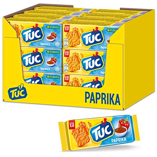 TUC Paprika 24 x 100g, Fein gesalzenes Knabbergebäck mit Paprika