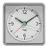 TFA Dostmann Elektronischer Wecker 60.1013.54, Kunststoff, Silber, (L) 70 x (B) 37 x (H) 70 mm