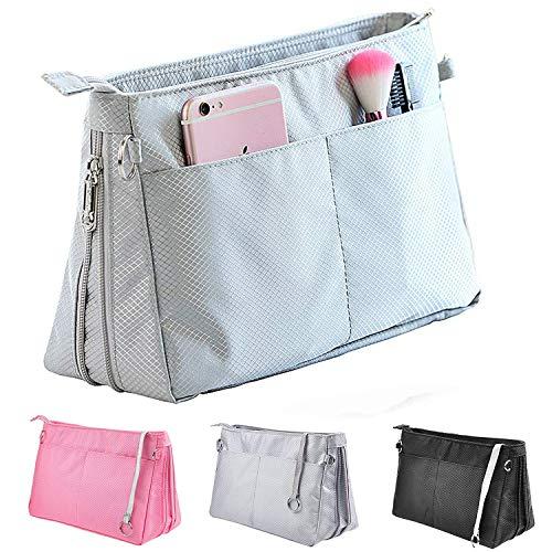Joqixon Handtaschen Organizer aus Nylon, Taschenorganizer Bag in Bag, Innentaschen für Handtaschen mit Reißverschluss für Damen