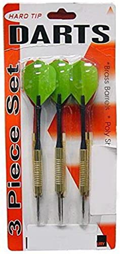 bulk buys Brass Barrel Strong Durable Poly Shaft Hard Tip Darts Poly Flight 24 Pack by