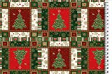 Stoffbook WEIHNACHTSSTOFF Baumwolle Weihnachten Bedruckt