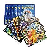 120 Cartas Pokemon Español Edición Espada y Escudo - Contienen 8 + 1 Cartas Aleatorias en Cada sobre de Tarjetas Basic - V - VMax Gigamax - Carta de Batalla - Carta Coleccionables