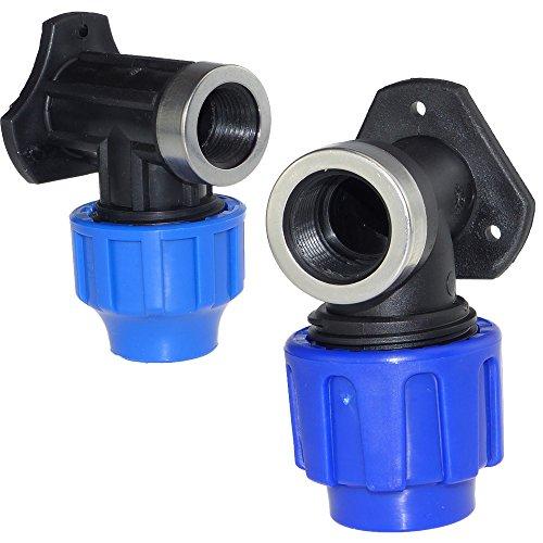 PE-Wandscheibe PE-Winkel verstärkt 25 mm x 3/4 Zoll (Trinkwasser geeignet)