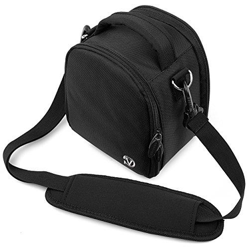 Vangoddy JET BLACK Small DSLR & SLR Camera Luxury Bag