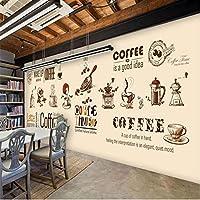 Clhhsy カスタム壁紙3Dシンプルな壁画ハイエンド手描きヨーロッパとアメリカのコーヒーショップテレビ背景壁紙3D-150X120Cm