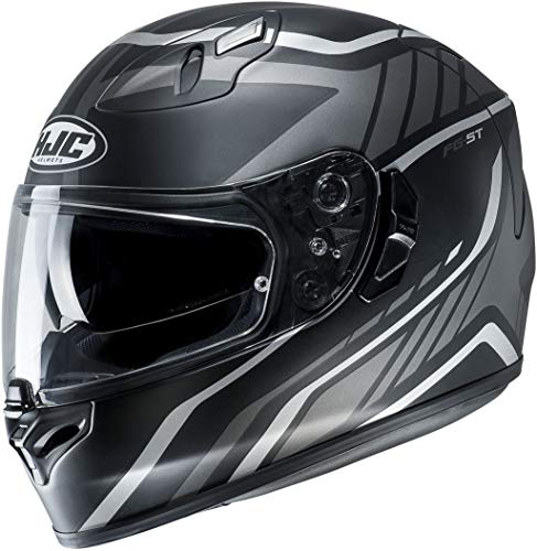 HJC Herren FG-ST Helmet, GRIDAN Black/Grey, M