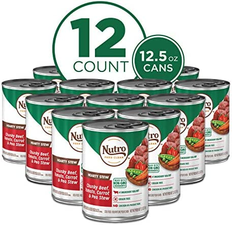 NUTRO HEARTY STEW Adult High Protein Natural Wet Dog Food Cuts in Gravy Chunky Beef Tomato Carrot product image