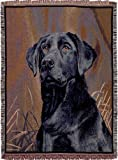 Simply Home Black Lab Tapestry Throw Blanket