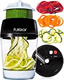 fullstar Vegetable Spiralizer Vegetable Slicer - 3 in 1 Zucchini Spaghetti Maker Zoodle Maker -...