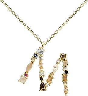 Collar Letra - Plata de Ley 925 bañada en Oro de 18k - Joyas para Mujer
