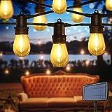 Opard Lichterkette Außen 14.6M 16er Solar Lichterkette Glühbirnen, LED S14 Glühbirnen Lichterkette Außen Warmweiß Garten Innenbeleuchtung Deko Licht mit USB für Feste, Garten, Balkons, Hochzeit