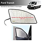 YelloPro Auto Side Window Front Seat Reflective Sunshade Custom Fit for 2015 2016 2017 2018 2019 2020 2021 Ford Transit Van (Set of 2)