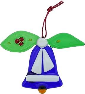 GlassOfVenice Murano Glass Bell Christmas Ornament - Blue