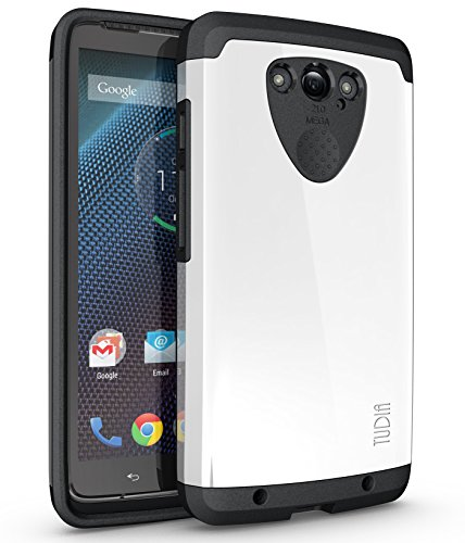 TUDIA Slim-Fit CYGEN Dual Layer Protective Case for Motorola Droid Turbo (Verizon) (NOT Compatible with Ballistic Nylon Version) (White)