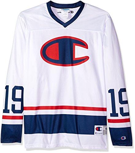 Champion LIFE Men's Hockey Jersey, White, XL