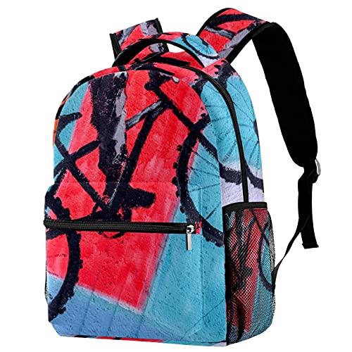 Mochila para Adolescentes Pintura Mural Bolsas de Libros duraderas para Estudiantes de Primaria, Secundaria y preparatoria, 29.4x20x40cm