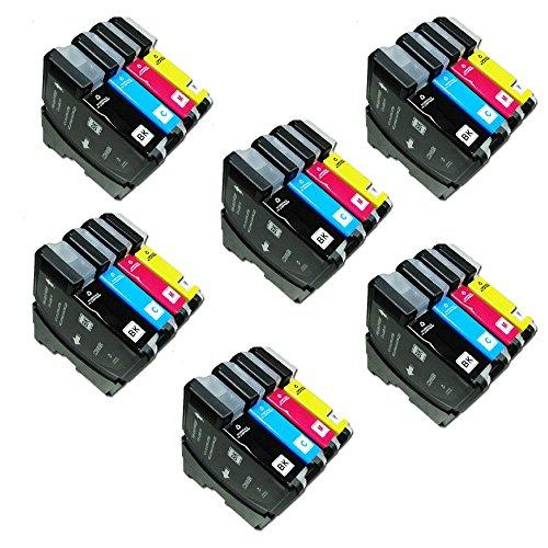 24ECS cartucho de tinta compatible reemplazar LC-985/LC985para Brother Impresora MFC-J220MFC-J265W MFC-J410DCP-J125DCP-J315W DCP-J415W DCP-J515W