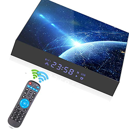 2021New Upgrade Android 10.0 TV Box 4GB RAM 64GB ROM Allwinner H616 Quad-core 64bit WiFi Dual-WiFi 2.4GHz/5GHz WiFi Bluetooth, HDMI Support 6K 3D/H.265 Android