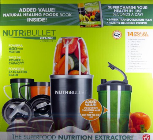 Nutribullet 14 Piece Nutrition Extractor 600W Blender Juicer NBR-1401 Nutri Bullet