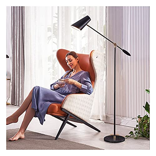 Indoor Vloerlamp, metalen verstelbare swing arm lezen staande lamp, moderne pool licht taakverlichting voor woonkamer…