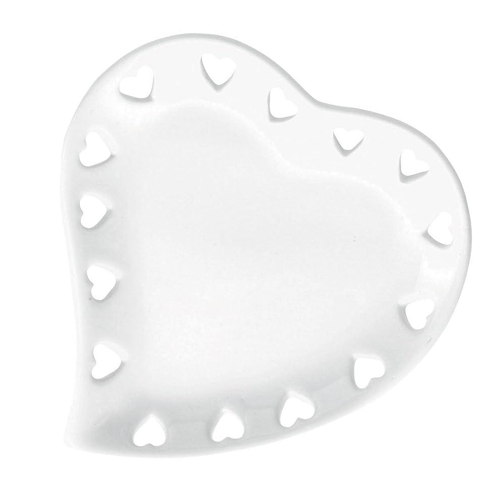 くそーシンプトンピザハートプレートS 「 ホワイト 」