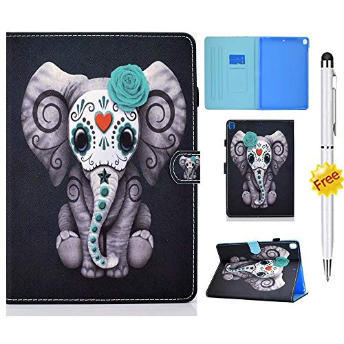 KSHOP Compatible with tablet Case Cover for Samsung Galaxy Tab A 8.0 2019 t290 (SM-T290 / SM-T295) Samsung Galaxy Tab A t2908 8-inch Smart tablet Case Stand Cover Stylus Touch Pen Elephant