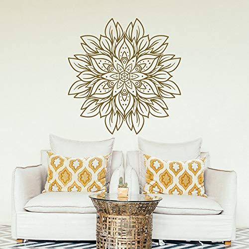 hetingyue Mandala bloem wanddecoratie mandala design goud vinyl decal sticker slaapkamer woonkamer yoga studio meditatie