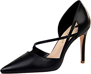 Zanpa Women Elegant Dress Shoes D Orsay Stiletto Heels