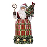 Enesco Jim Shore Country Living Santa with Tree Christmas Figurine 6007446