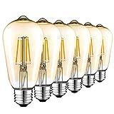 Bombillas LED Vintage E27, Retro Bombilla de Filamento Edison 4W(equivalente a 40w), ST64 ...