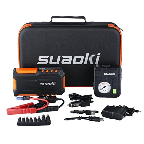 Suaoki G7 Plus - 18000 mAh et 600A + 80 PSI Compresseur d'air