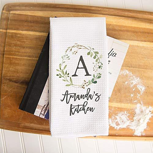 Custom Waffle Weave Dish Towel   Personalized Kitchen Towel   Housewarming Gift   Wedding Gift   Personalized Dish Towel   Housewarming Gift