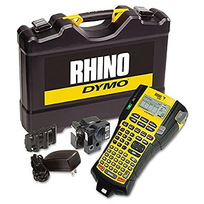 DYMO 1756589 Rhino 5200 Industrial Label Maker Kit, 5 Lines, 4 9/10w x 9 1/5d x 2 1/2h