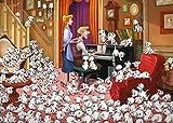 183Tdfc 101 Dálmatas, Anime 1000 Piezas Puzzle Rompecabezas para Niños para Adultos Desarrollar La Paciencia Enfoque Reducir La Presión Rompecabezas